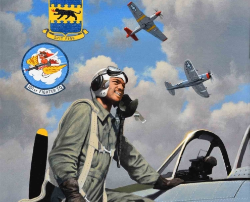 Lt. Col. Harry Stewart, oil paint on canvas by Stan Stokes