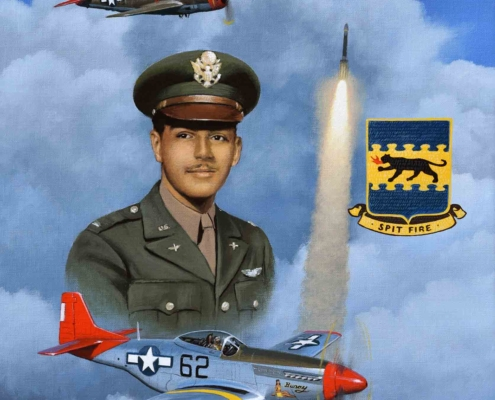 Stan Stokes oil painting of lt. Col. Bob Friend