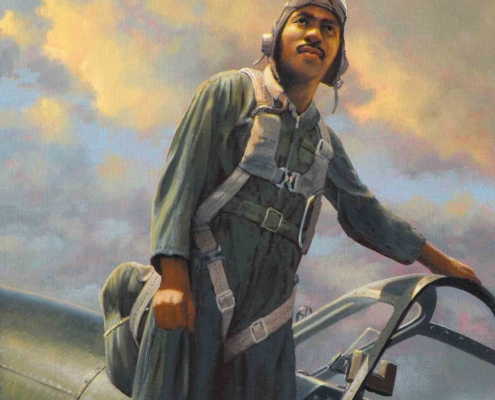 Stan Stokes painting of Lt. Col. Clarence Jamison