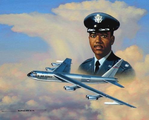 Stan Stokes oil painting of Lt. Col. Paul Lehman