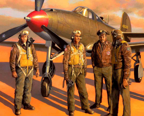 The P-39 Airacobra and the pilots of the 302nd Fighter Squadron.